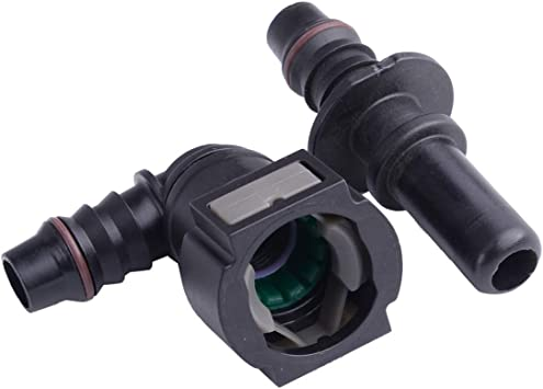 """11.8MM SAE 3//8/"""" Elbow Quick Release Connector for Nylon Fuel Line Rubber Hose"""