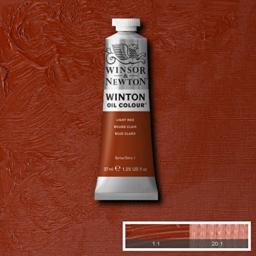 Winsor & Newton Winton Oil Paint Tube Artist Art 37ml & 200ml ALL COLOURS (Light Red, - Colour 37ml Oil Winton