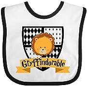 Inktastic - Gryffindorable Crest with Lion Head Baby Bib White/Black 28c0c
