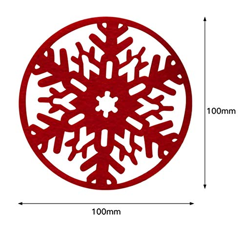 DoMoment Copos de Nieve de Navidad Estera de la Taza Decoraciones navideñas Cena Bandeja de Platos Bandeja de Platos: Amazon.es: Hogar