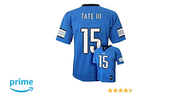 93211f5bde3 Amazon.com  Outerstuff Golden Tate III Detroit Lions  15 Blue Kids Mid Tier  Home Jersey  Clothing