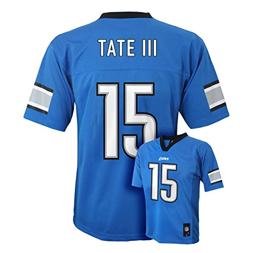 Golden Tate III Detroit Lions #15 Blue Kids Mid Tier Home Jersey (Kids 5/6)