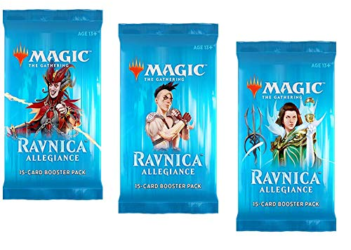 3 (Three) Booster Packs of Magic: The Gathering: Ravnica Allegiance (3 Pack - RNA Booster Draft Lot) (Magic The Gathering Booster Packs For Sale)