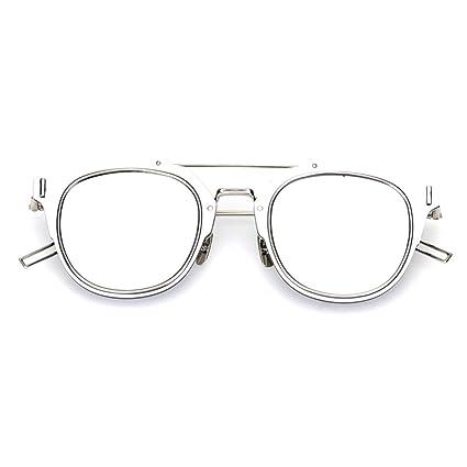 d32c4001c3 Sakuldes Gafas de Sol de Lentes polarizadas UV 400 para Hombres (Color :  Silver Frame