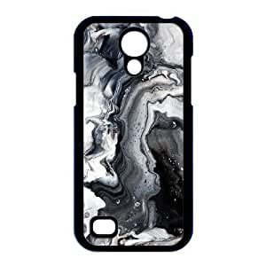 Carnival Black and White Metallic Marble Print Custom,TPU Phone case for Samsung Galaxy S4 Mini i9190,black