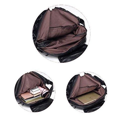 MYLL Zaino In Pelle Casual Daypack Impermeabile Antifurto Zaino Ideale Per Le Donne Le Ragazze Delle Ragazze College Gym Work Sports