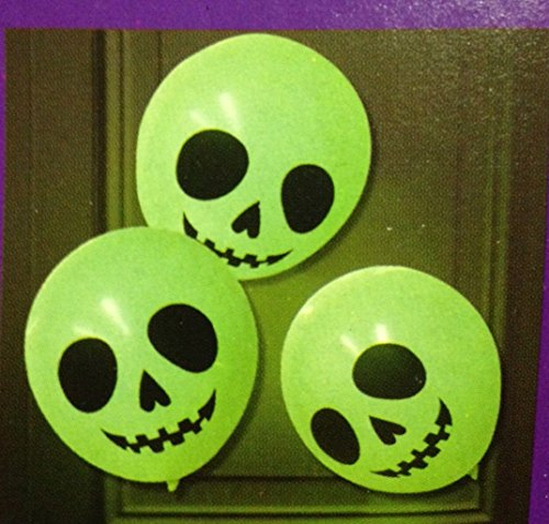 (6 Light Up Balloons Glow In The Dark W/ Glow Sticks Halloween Party)