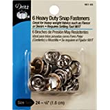Dritz Heavy Duty Snap Fasteners-Nickel - Size 24 - 5/8 Inch - 6 Count