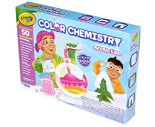 519cT6fhU8L - Crayola Artic Color Chemistry Set for Kids, Steam/Stem Activities, Educational Toy, Ages 7, 8, 9, 10