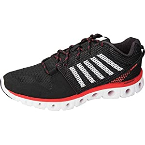 K-Swiss MCMFXLITE Men's Lite Court Shoe Black/Red/White 9.5 M US