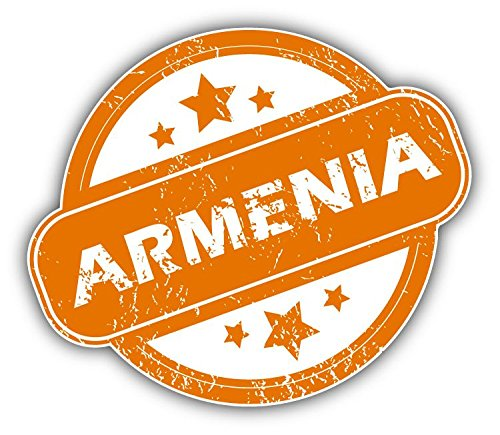 Armenia Grunge Rubber Stamp Vinyl Decal Bumper Sticker 5