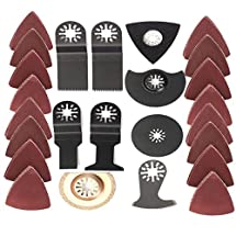 BABAN 41 Pieces Universal Oscillating Multi Tool Accessories Set for Sanding, Grinding and Cutting