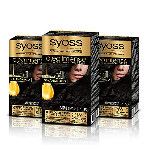 🥇 Syoss Oleo Intense Syoss Oleo Intense – Coloración Permanente Tono 1-10 Negro Intenso