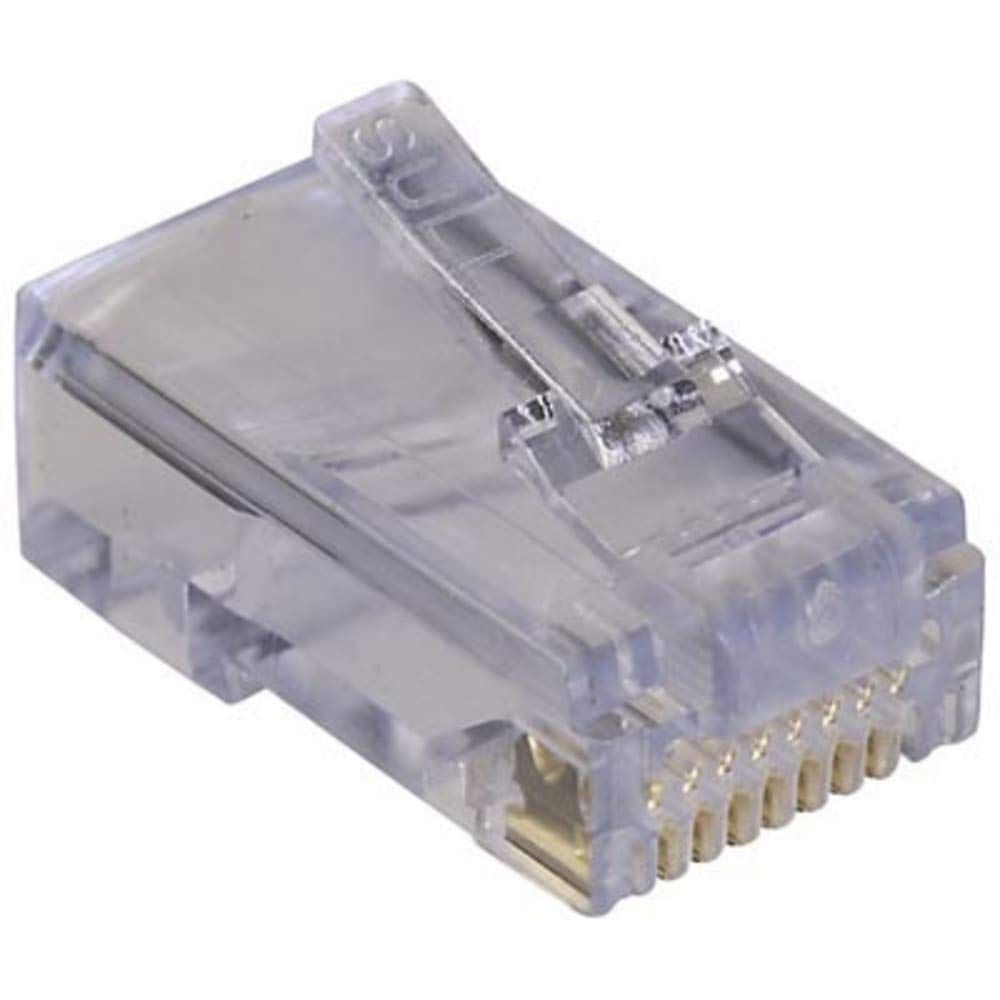 CONNECTOR; EZ-RJ45 MODULAR PLUG; CATEGORY6; FOR TWISTED PAIR CABLE, Pack of 20