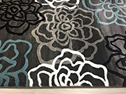 Rugshop Contemporary Modern Floral Flowers Area Rug, 5\' 3\