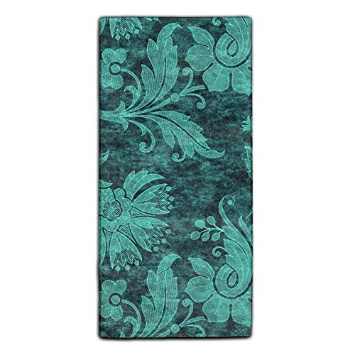 Floral Tropical Washcloth - Tropical Floral Damask Fingertip Towels Highly Absorbent Face Cloths Sport and Workout Towels