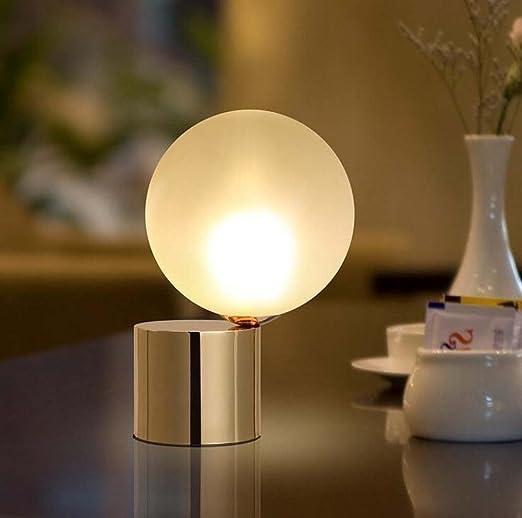 Lampada Da Tavolo In Vetro Palla Lampade Da Tavolo Moderne In Ferro