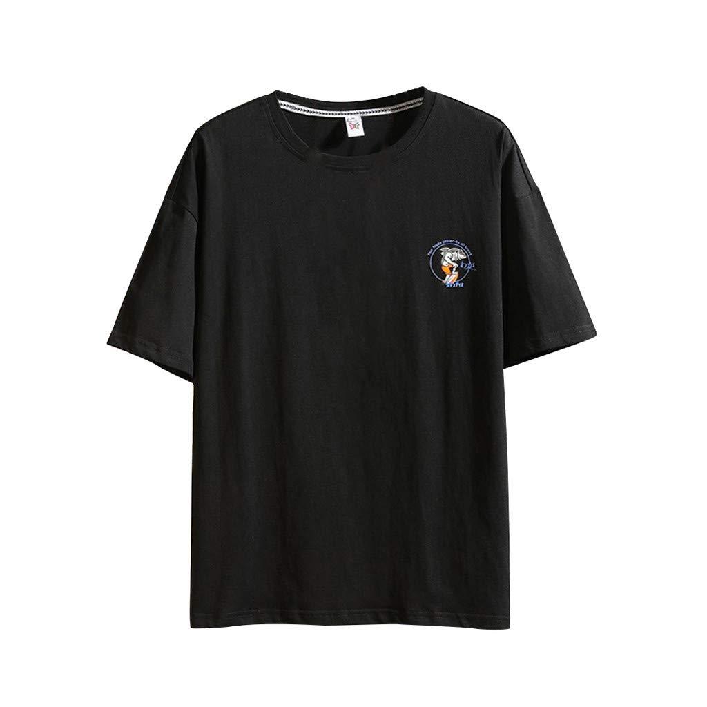Mr.Macy Mens Summer Casual Fashion Printing Loose Short Sleeve T-Shirt Top Blouse