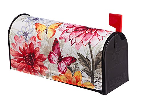 Evergreen Fresh Dahlias Magnetic Mailbox Cover (Magnetic Mailbox Covers)