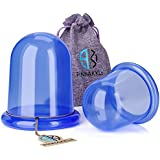 Anti Cellulite Vacuum Cup Set [2-pack] - Silicone Suction Cupping Therapy Set For Cellulite Body Massage [1 Large + 1 Medium]