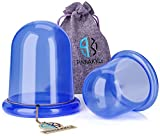 #4: Anti Cellulite Vacuum Cup Set [2-pack] - Silicone Suction Cupping Therapy Set For Cellulite Body Massage [1 Large + 1 Medium]