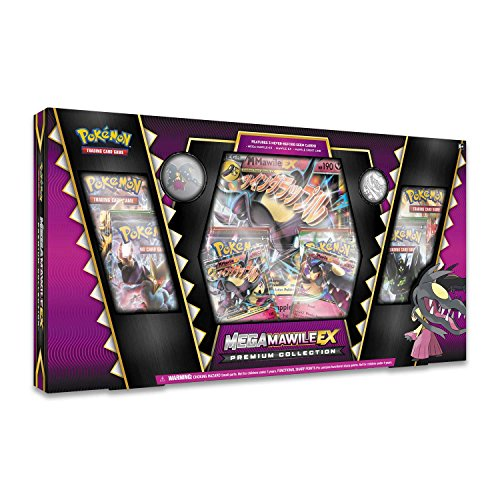 Pokemon TCG: Mega Mawile EX Premium Collection Box + 6 Booster Pack + A Foil Promo Card (Best Pokemon Booster Pack Get Ex Cards In)