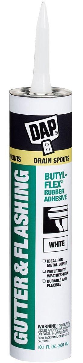 Dap 27062 18 Pack 10.1 oz. Butyl Flex Gutter and Flashing Adhesive, White