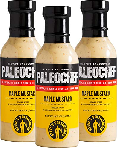 Steve's PaleoGoods, PaleoChef Maple Mustard Sauce, 12 oz (Pack of 3)