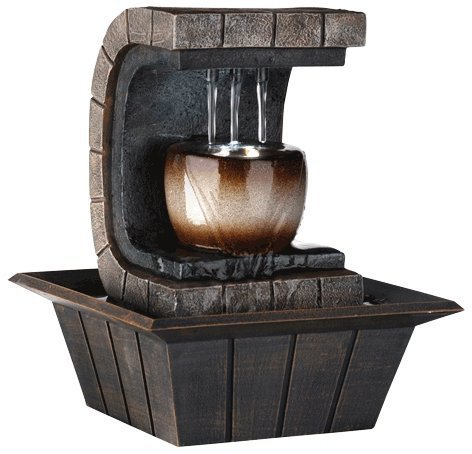 OK LIGHTING 1-Light 10 in. Antique Chrome Fountain by Universal Lighting and (Best Universal Lighting And Decor Fountains)