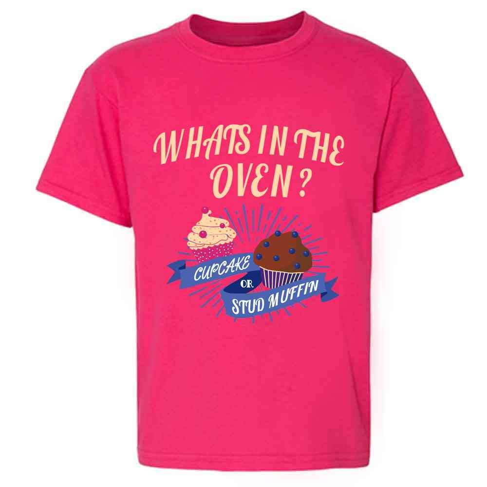 Gender Reveal What's in The Oven? Cute Funny Youth Kids Girl Boy T-Shirt
