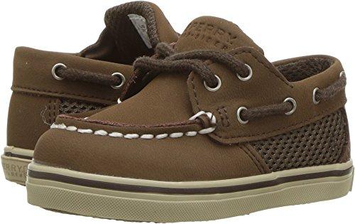 Sperry Intrepid Crib B Boat Shoe (Infant/Toddler),Cigar Brown,3 M US (Big B Boats)