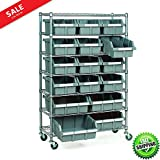 Large Metal Shelving Unit Convinient Work Surface Organizing Stuff Garage Storage Workshop Heavy-Duty Module Ergonomic Space Saver 16 Bin Rack Rolling Storage Commercial Wire Shelves eBook by BADAshop