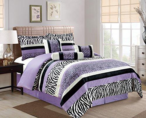 Bright Purple Leopard Comforter Bedding product image