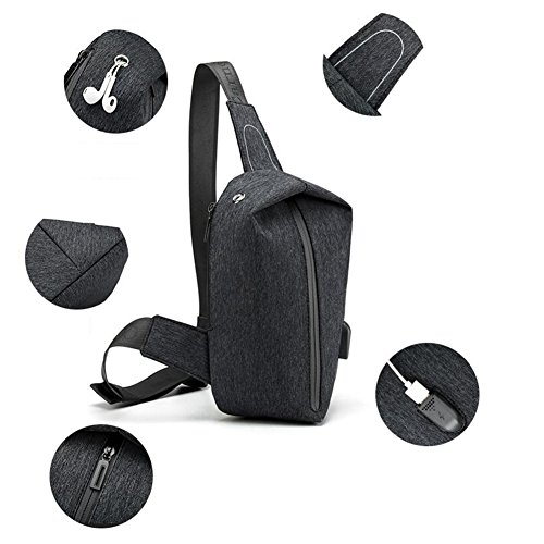 Bag Polyester Qidi One T 1 T Pack Oblique Shoulder Student 1 color Chest Men's Backpack wCnCrxF8X