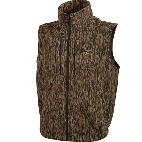 Drake MST Windproof Layering Vest (Mossy Oak Bottomland) (2XLarge)