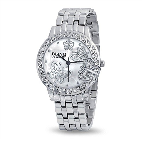 Bling Jewelry Stainless Steel Back Classic Butterfly Fashion Watch