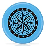 Chastep Diameter Frisbee Ring Assorted Colors 3cm thick Perfect Outdoor Family Fun at Backyard Pool BBQ Park Beach School (Blue)