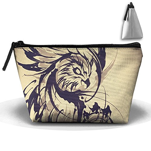 Portable Travel Storage Bags Eagle Tattoo Art Love Pouch Purse Zipper Holder For Medicine And Makeup Bag by Muchess