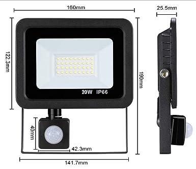 Reflector LED de sensor de movimiento 10W / 20W / 30W / 50W Foco ...