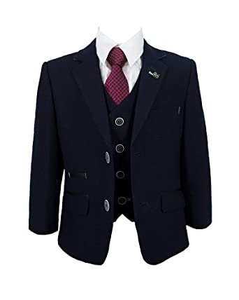Boys 2 Button Blazer Size 14 Suit Jacket Navy School Uniform Formal Wedding NEW