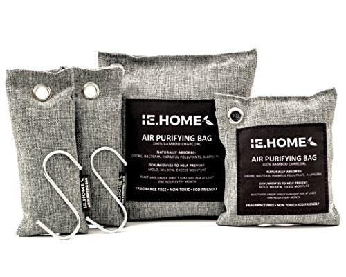 Big Save! IE.HOME 100% All Natural Activated Bamboo Charcoal Air Odor Remover, Air Purifying Deodori...