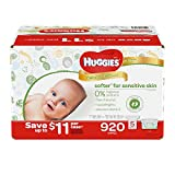 Health & Personal Care : Huggies Natural Care Baby Wipe Refill, Unscented (920 Count)