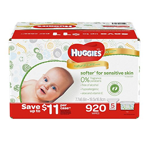 Nursery Wipes Box (Huggies Natural Care Baby Wipe Refill, Unscented (920 Count))