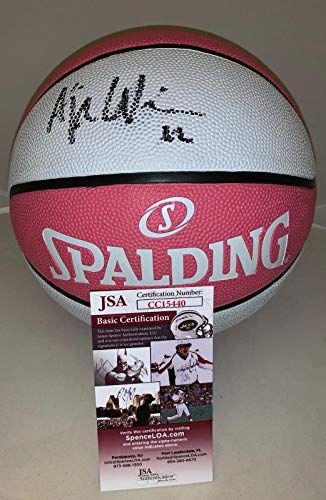 4719cb4600f A'ja Wilson Las Vegas Aces signed Full Size Pink WNBA Basketball Ball Proof  - JSA Certified - Autographed WNBA Basketballs