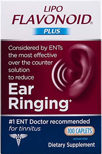 Lipo-Flavonoid Plus Ear Health Supplement | Most Effective Over the Counter Tinnitus Treatment | #1 ENT Doctor Recommended for Ear Ringing | 100 Caplets (Best Over The Counter Med For Nausea)