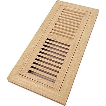 Homewell Red Oak Wood Floor Register Vent Flush Mount