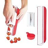 Zip Slicer - Tomatoes Knife - Cherry tomato splitter -by DOTERNITY - Grapes Slicer & Cutter