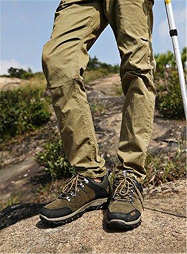Bininbox Mens Casual Fashion Sneakers Respirant Athlétique Sport Board Chaussures Randonnée Confortable Running Vert