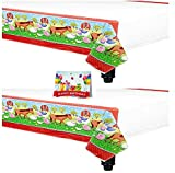Barnyard Fun Animal Birthday Party Plastic Table Covers Bundle Pack of 2