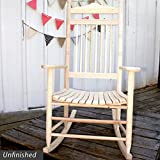 Standard Slat Porch Rocking Chair Unfinished 533645
